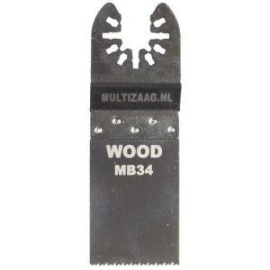 Multizaag MB34 standaard zaagblad Universeel houtbewerking HCS fijn recht 40x30 - A11600016 - afbeelding 1