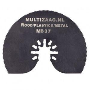Multizaag MB37 bi metalen halfrond zaagblad Universeel houtbewerking fijn half rond 80x80 - A11600040 - afbeelding 1