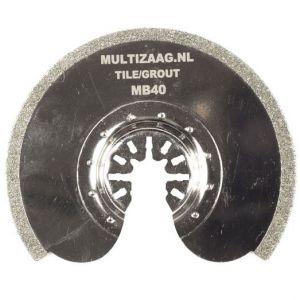 Multizaag MB40 diamant zaagblad Universeel slijpen voegen en tegels diamond rasp snijbreedte 2 mm half rond 90x90 - A11600096 - afbeelding 1