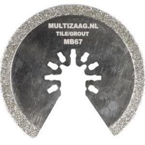 Multizaag MB67 diamant zaagblad Universeel slijpen voegen en tegels diamond rasp snijbreedte 2 mm half rond 63x63 - A11600112 - afbeelding 1
