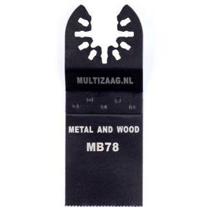 Multizaag MB78 bi metalen zaagblad Universeel houtbewerking fijn recht 40x35 - A11600052 - afbeelding 1