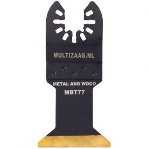 Multizaag MBT77 HSS titanium coated zaagblad Universeel metaalbewerking fijn recht 50x45 - A11600076 - afbeelding 1