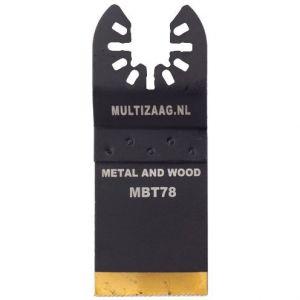 Multizaag MBT78 HSS titanium coated zaagblad Universeel metaalbewerking fijn recht 50x35 - A11600080 - afbeelding 1