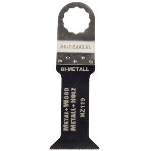 Multizaag MZ119 verlengd bi metalen zaagblad Supercut houtbewerking met spijkers fijn recht verlengd 78x42 - A11600310 - afbeelding 1