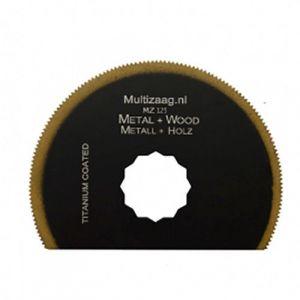 Multizaag MZ125 HSS titanium coated halfrond zaagblad Supercut metaalbewerking fijn half rond 80x80 - A11600314 - afbeelding 1
