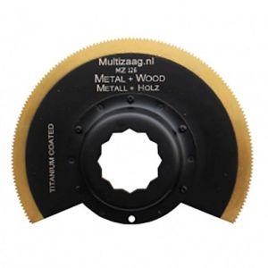 Multizaag MZ126 HSS titanium coated halfrond zaagblad Supercut metaalbewerking fijn half rond 90x90 - A11600318 - afbeelding 1
