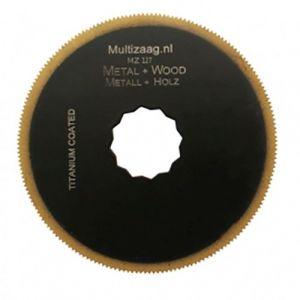 Multizaag MZ127 HSS titanium coated rond zaagblad Supercut metaalbewerking fijn rond 80x80 - A11600322 - afbeelding 1