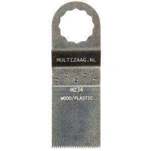 Multizaag MZ34 standaard zaagblad Supercut houtbewerking HCS fijn recht 40x30 - A11600270 - afbeelding 1
