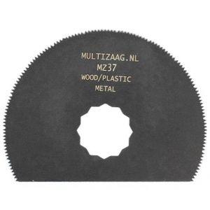 Multizaag MZ37 bi metalen halfrond zaagblad Supercut houtbewerking met spijkers fijn half rond 80x80 - A11600294 - afbeelding 1