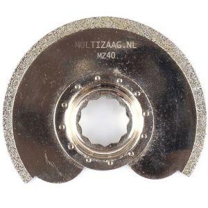 Multizaag MZ40 diamant zaagblad Supercut slijpen voegen en tegels diamond rasp half rond 90x90 - A11600350 - afbeelding 1