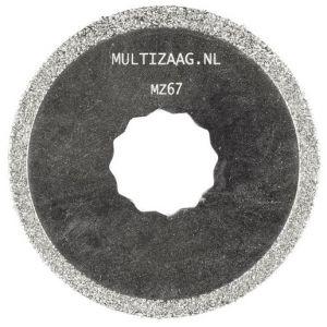Multizaag MZ67 diamant zaagblad Supercut slijpen voegen en tegels diamond rasp rond 63x63 - A11600366 - afbeelding 1