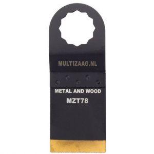 Multizaag MZT78 HSS titanium coated zaagblad Supercut metaalbewerking fijn recht 50x35 - A11600334 - afbeelding 1