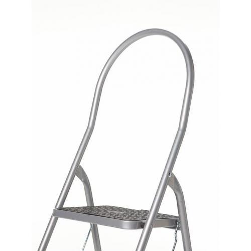 Fabulous Altrex Cromato huishoudtrap 2 treden met hoge beugel Silver 500950 RO56