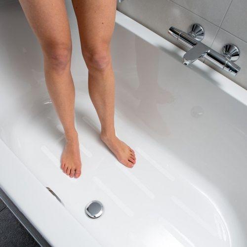 Secucare Anti Slip Sticker Langwerpig 25x245 Mm Voor Binnen Bad Douche En Badkamer Wit Set 12 Stuks 8040 100 02 B2b Inkoopplatform Ijzerwarenunie